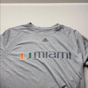 Miami Hurricanes Adidas Shirt